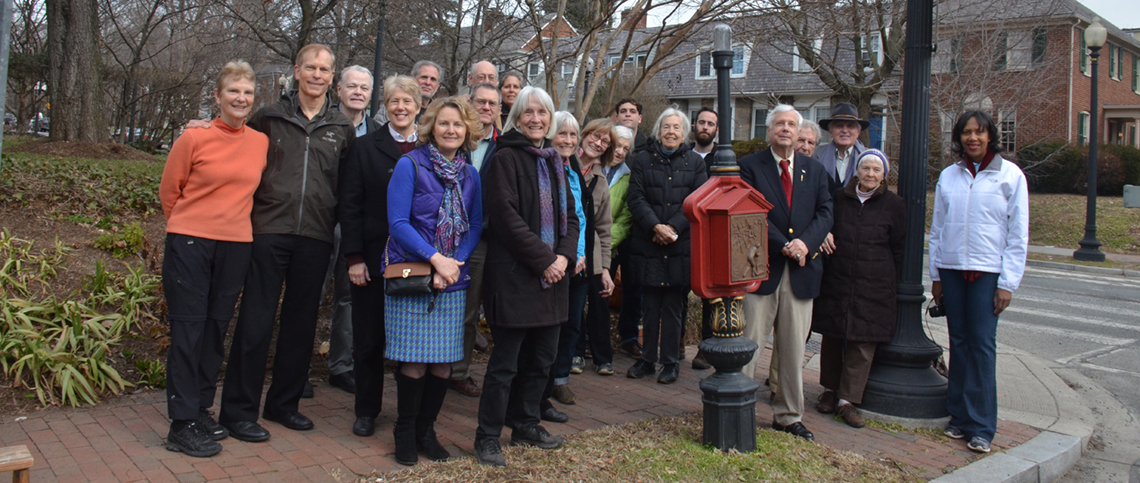 the completely restored shorty at its unveiling on february 20, 2016. Among those present at the ceremony who worked on the project were Linda brooks and Ross Schipper (far left), Jeannette murphy (front center, on grass), edgar russell iii (just right of shorty), dwane starlin (black hat, third from right), and rebecca peterson (far right).
