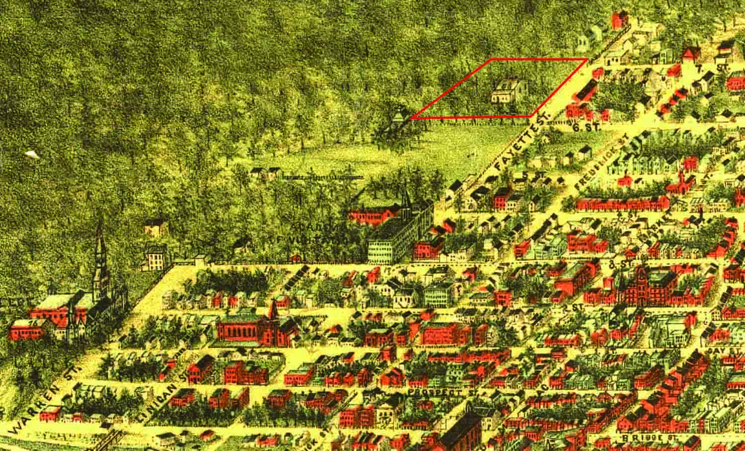"Outlined in red, the original Cedars was a few blocks north of Georgetown University. Detail: The national capital, Washington, D.C. Sketched from nature by Adolph Sachse, 1883–1884. Library of Congress Geography and Map Division. 75693178.      Normal   0           false   false   false     EN-US   X-NONE   X-NONE                                                                                                                                                                                                                                                                                                                                                                                                                                                                                                                                                                                                                                                                                                                                                                                                                                                        /* Style Definitions */  table.MsoNormalTable 	{mso-style-name:""Table Normal""; 	mso-tstyle-rowband-size:0; 	mso-tstyle-colband-size:0; 	mso-style-noshow:yes; 	mso-style-priority:99; 	mso-style-parent:""""; 	mso-padding-alt:0in 5.4pt 0in 5.4pt; 	mso-para-margin-top:0in; 	mso-para-margin-right:0in; 	mso-para-margin-bottom:8.0pt; 	mso-para-margin-left:0in; 	line-height:107%; 	mso-pagination:widow-orphan; 	font-size:11.0pt; 	font-family:""Calibri"",sans-serif; 	mso-ascii-font-family:Calibri; 	mso-ascii-theme-font:minor-latin; 	mso-hansi-font-family:Calibri; 	mso-hansi-theme-font:minor-latin;}"