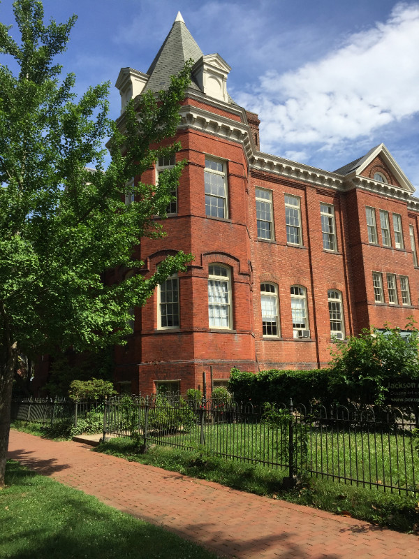 Jackson School (1890–1971) has been leased by the DC government to local artists for studio space since the mid 1980s. artists are hoping to extend the lease beyond its expiration in 2018.