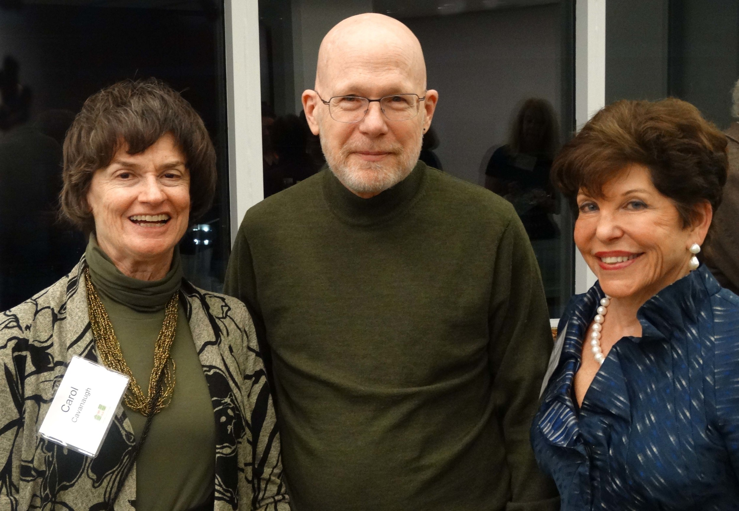 Board President Gail Nordheimer (right) with Burleith residents and GV members/volunteers Carol Cavanaugh and Lee Gravate.