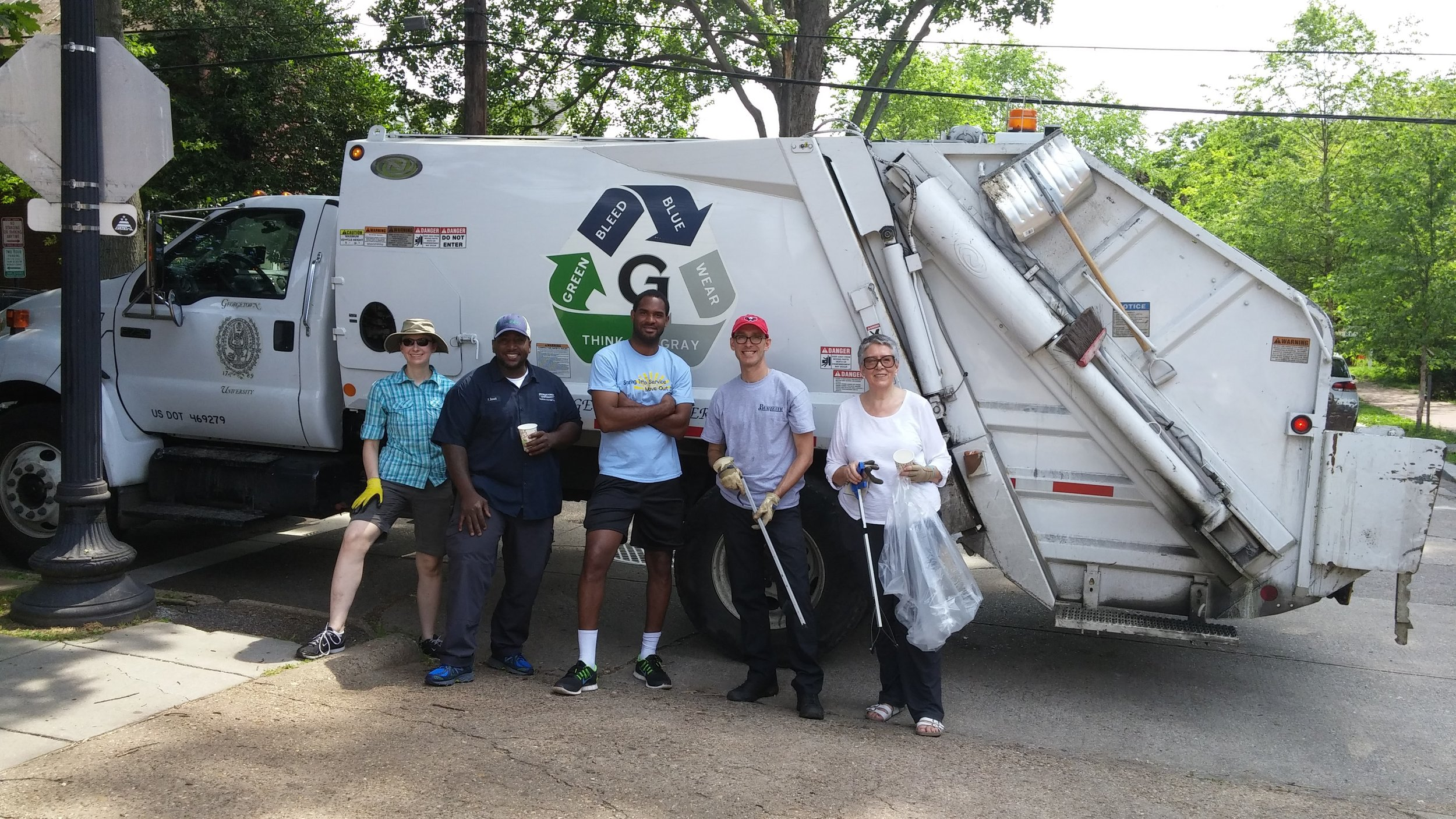 """The """"litter alliance"""" at June's clean-up collected 20 bags of litter and lots of bulk waste."""