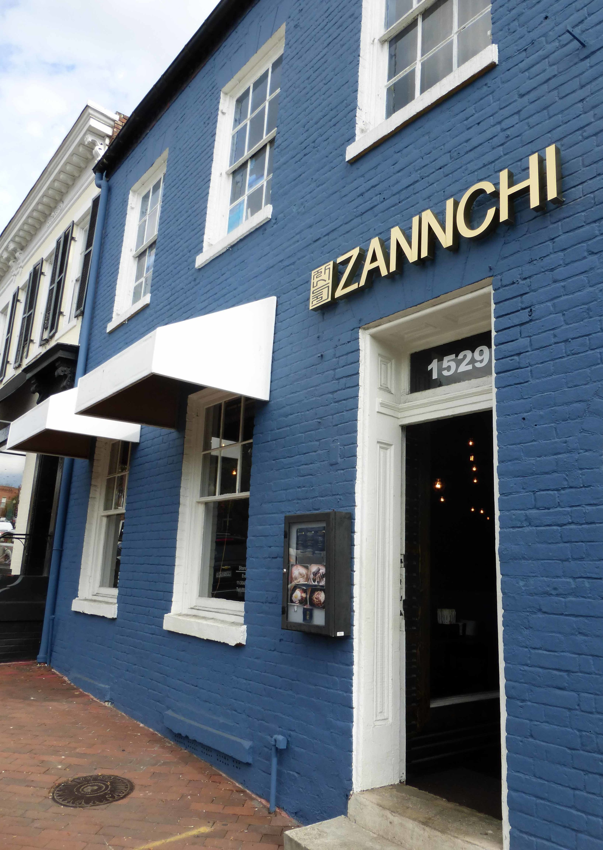 Zannchi is located on the ground floor of a typical Georgetown row house.