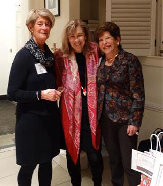 Board Member Nancy Roll, realtor Nancy Taylor Bubes, and president  gail nordheimer.