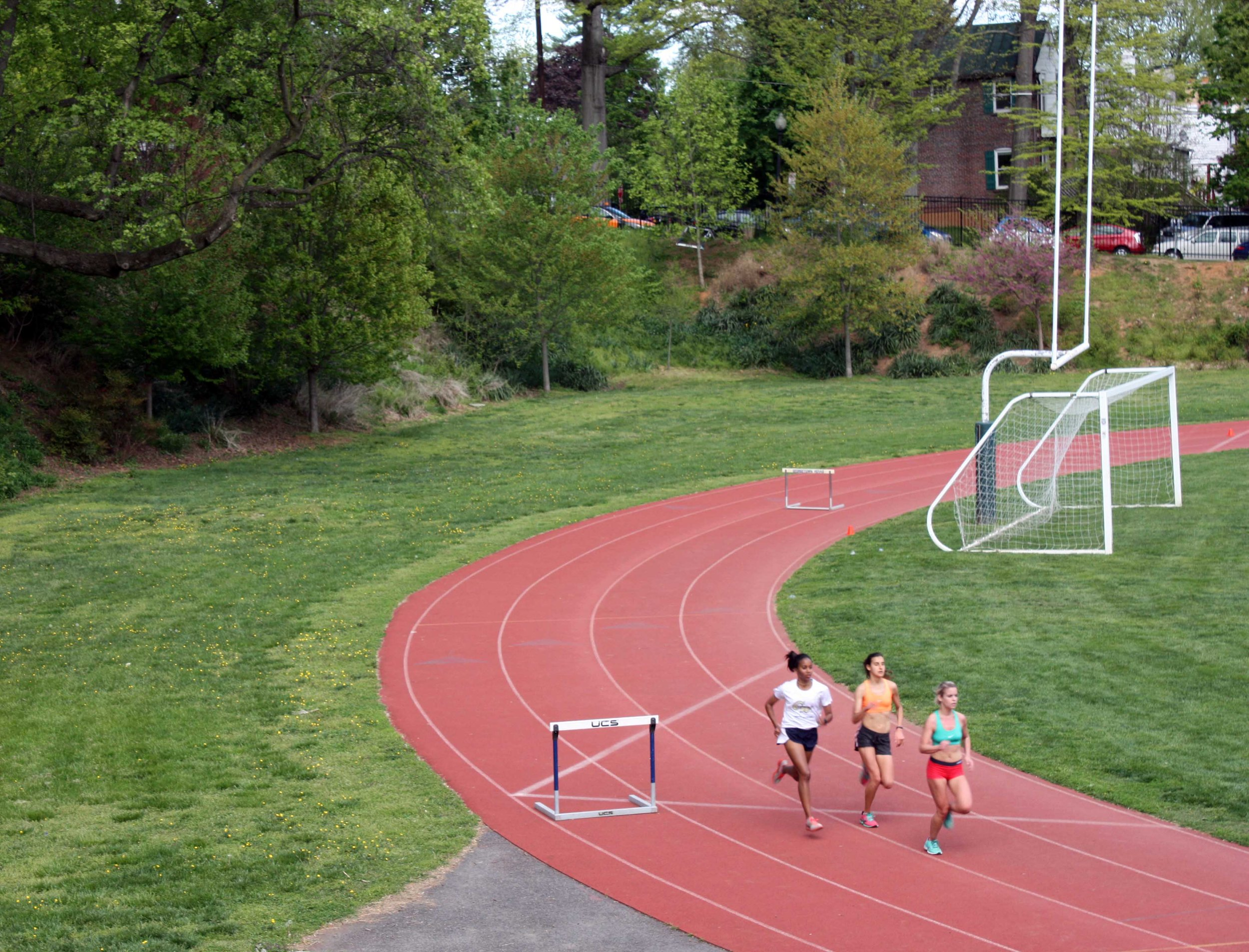 Georgetown University resurfaced the track in 2016