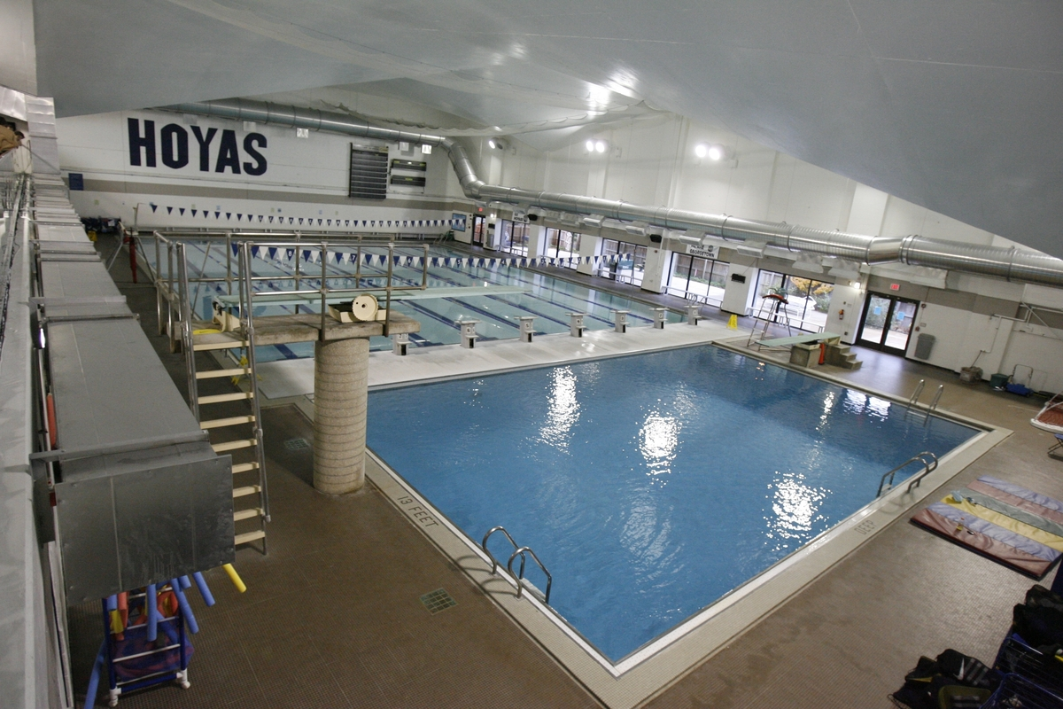The Aquatics Department offers a variety of lessons in McCarthy Pool for novices and experienced swimmers alike.