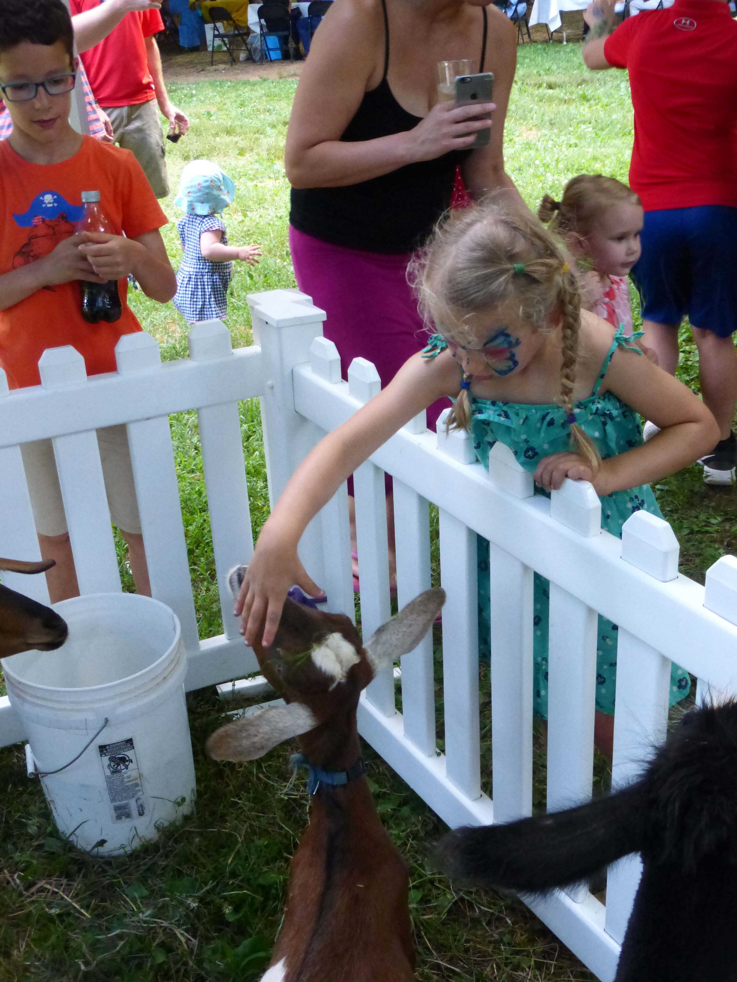 lenore rubino/realtor sponsored the petting zoo, face painting, and gelato.