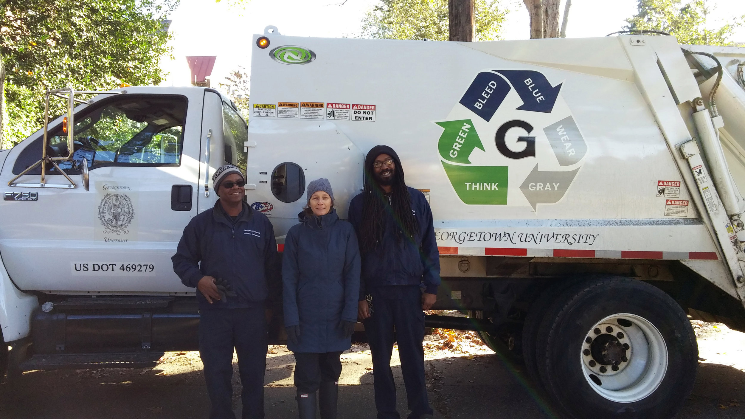 A good amount of bulk waste was collected with the help of GU employees and trash trucks.