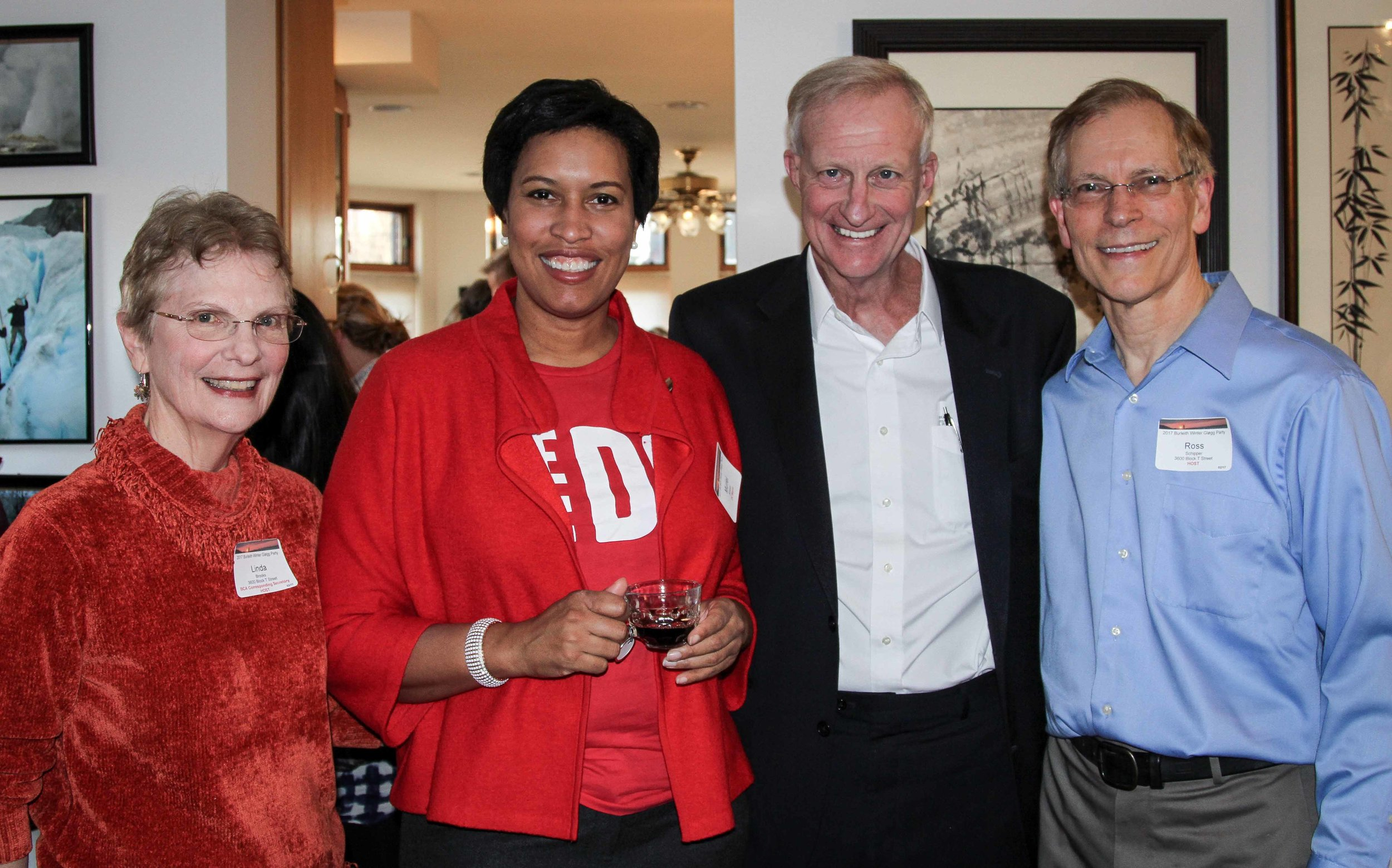 Mayor Bowser and Ward 2 Councilmember Evans joined hosts Linda Brooks and Ross Schipper at the 2017 event.