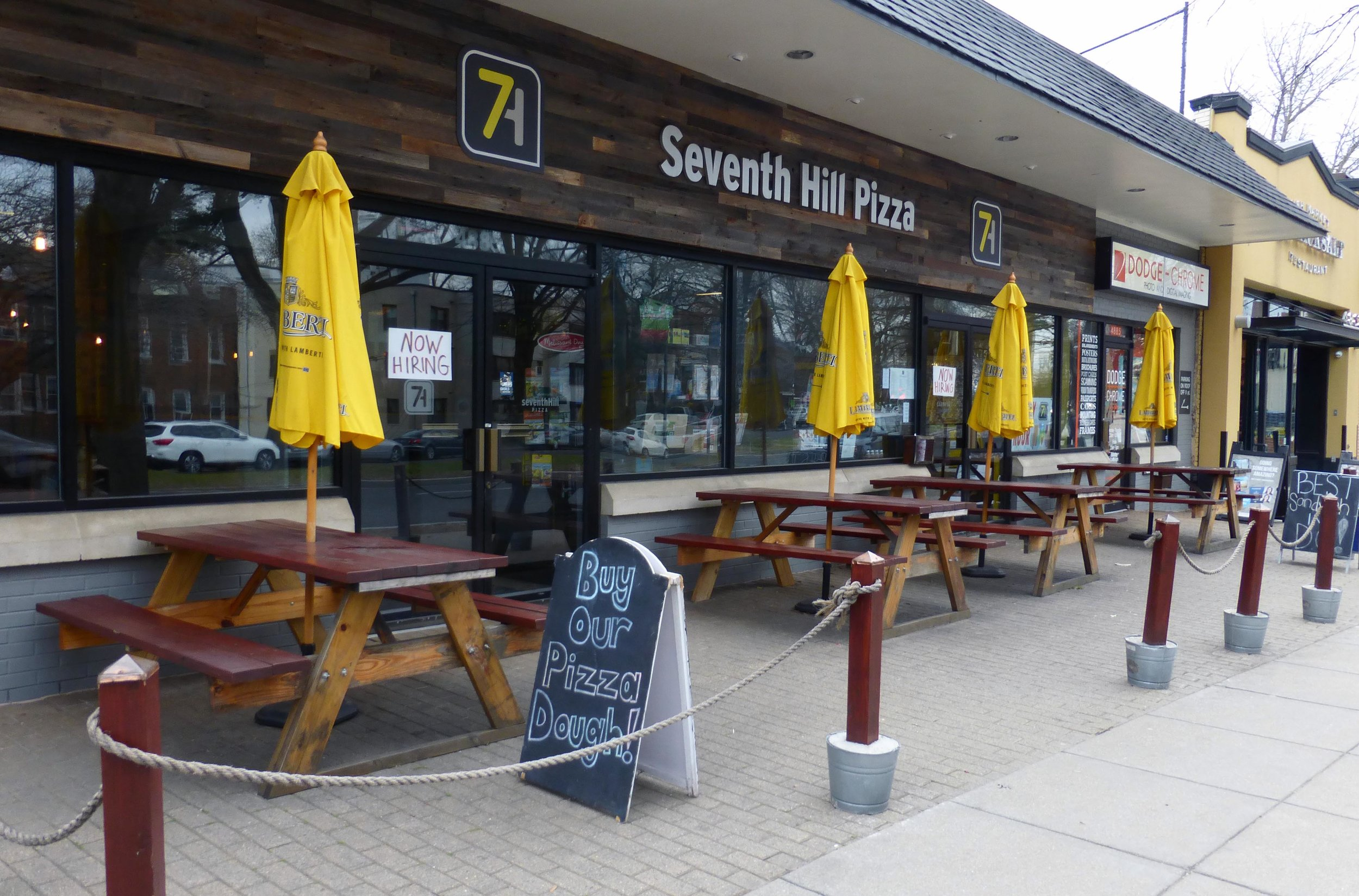 Located at 4885 MacArthur Boulevard NW, Seventh Hill Pizza offers dine-in, take-out, and full catering. Photos by Ann Carper.