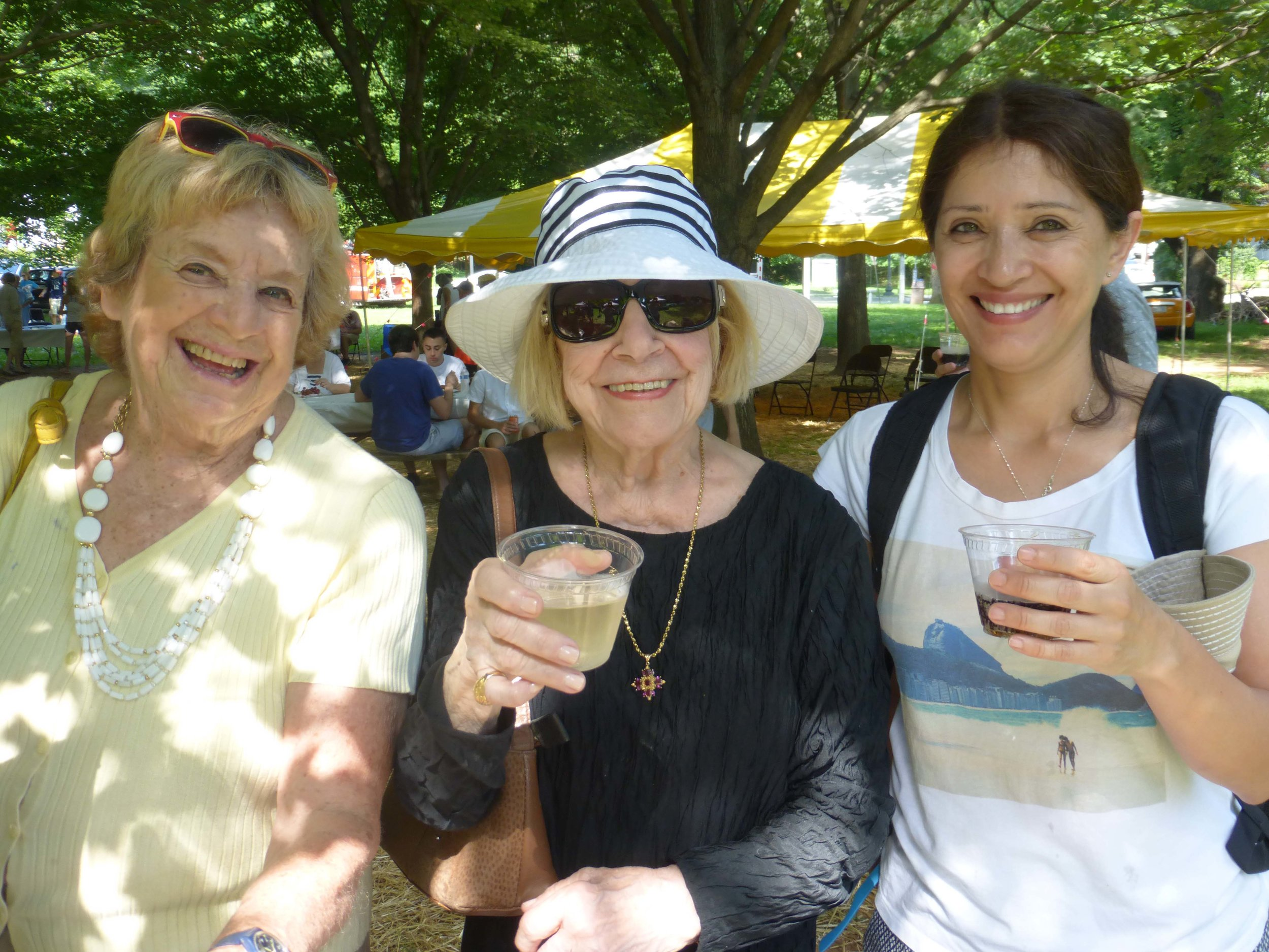 Long-time residents mingled with newer arrivals.