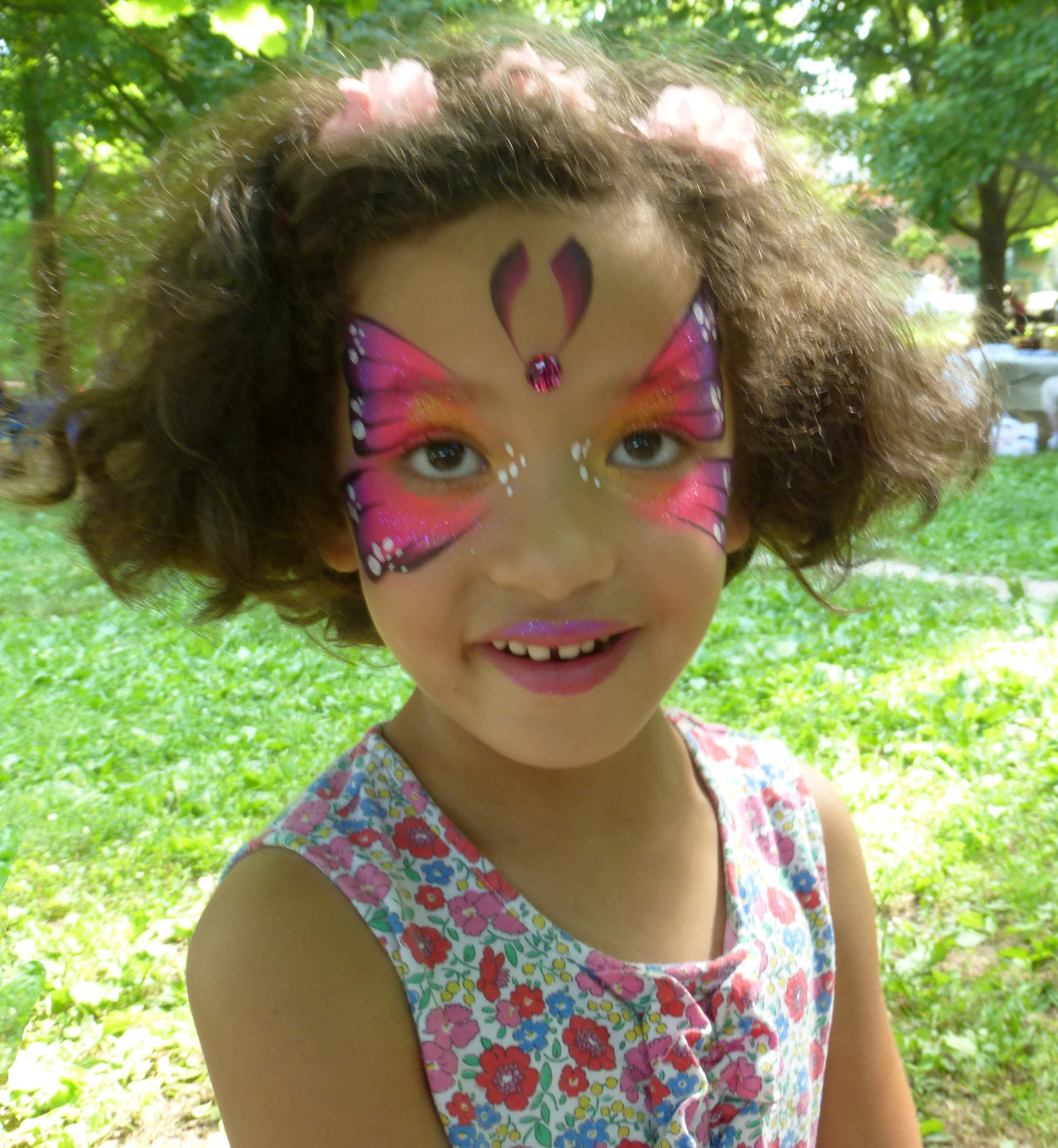 face painting by Let's make a face was a big hit.