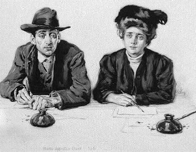 Situation Wanted , detail of drawing by Walter Appleton Clark, [1906?], Library of Congress,  https://www.loc.gov/item/2010715463/ .