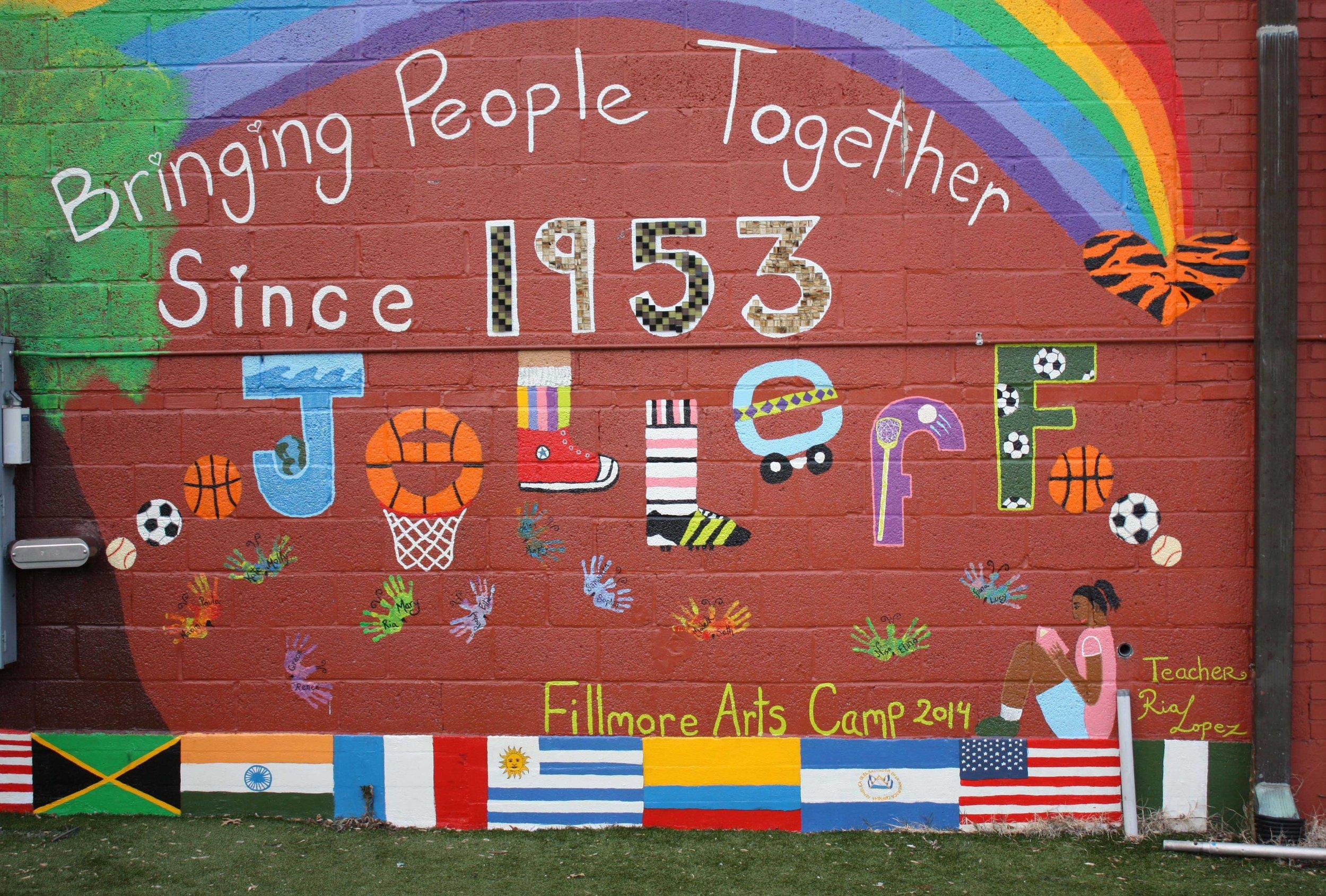 Jelleff mural. Photos by Kishan Putta.