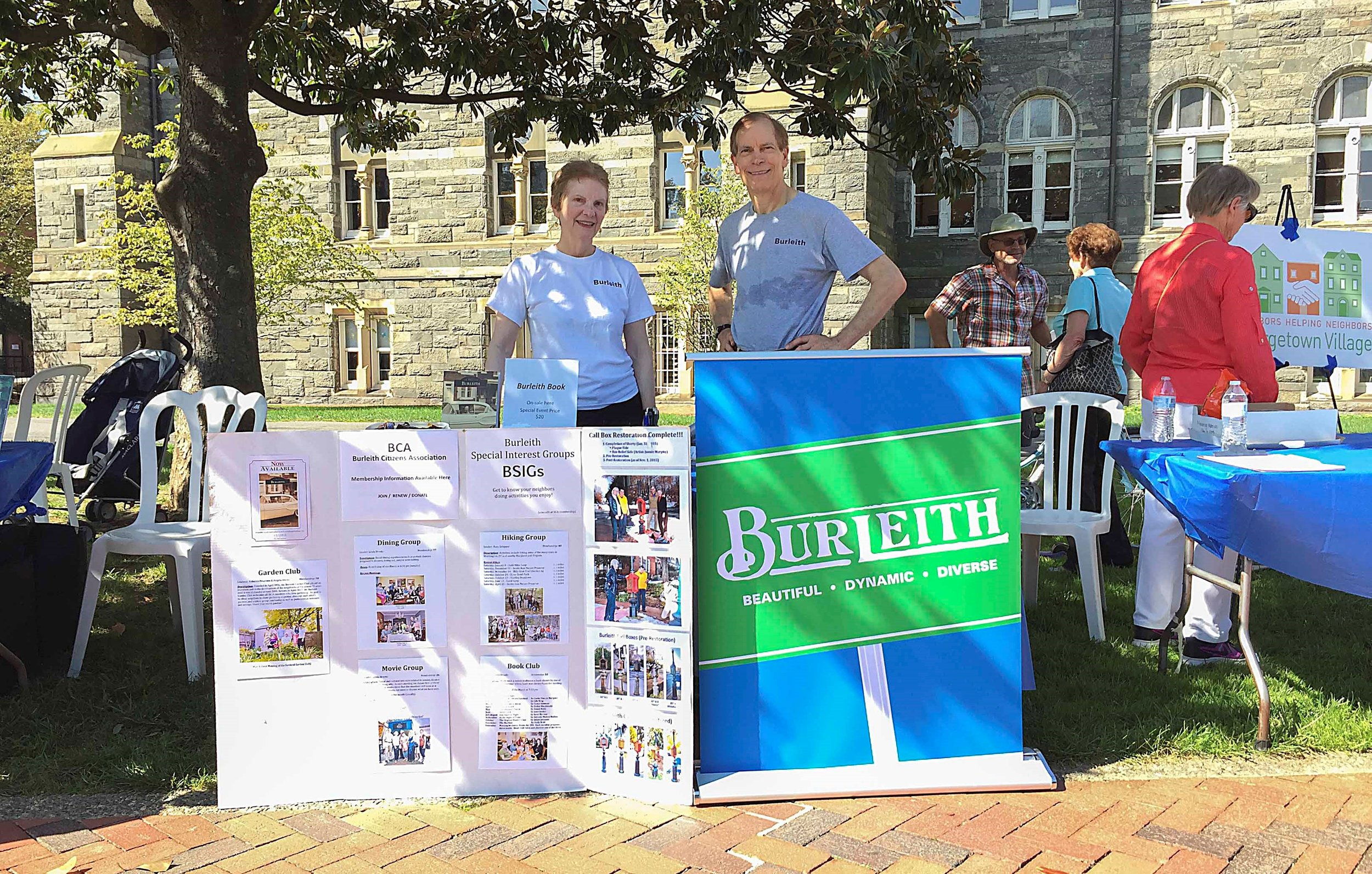 The Burleith Citizens Association will staff a table again this year. Please stop by and learn what's up in Burleith.