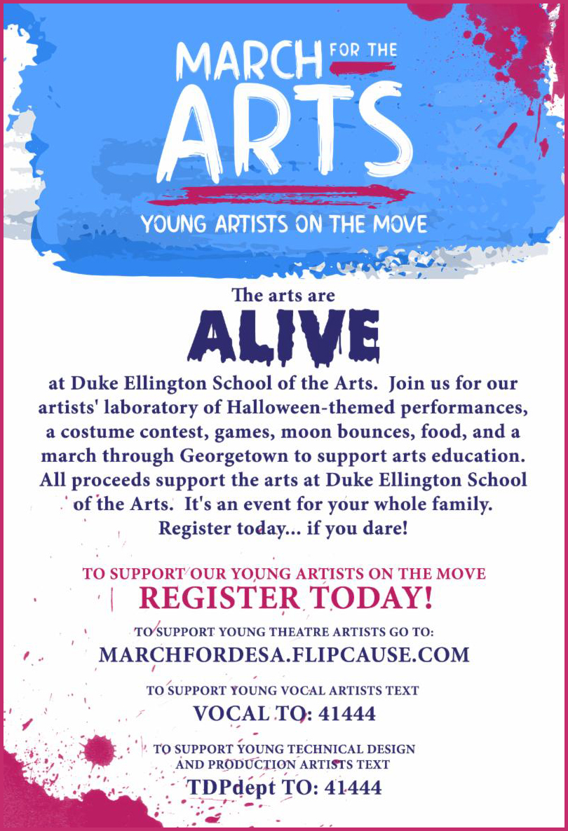March for the Arts takes place on Saturday, Oct. 20.