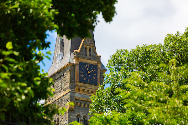 Healy Clock Tower. Photo courtesy of Georgetown University.