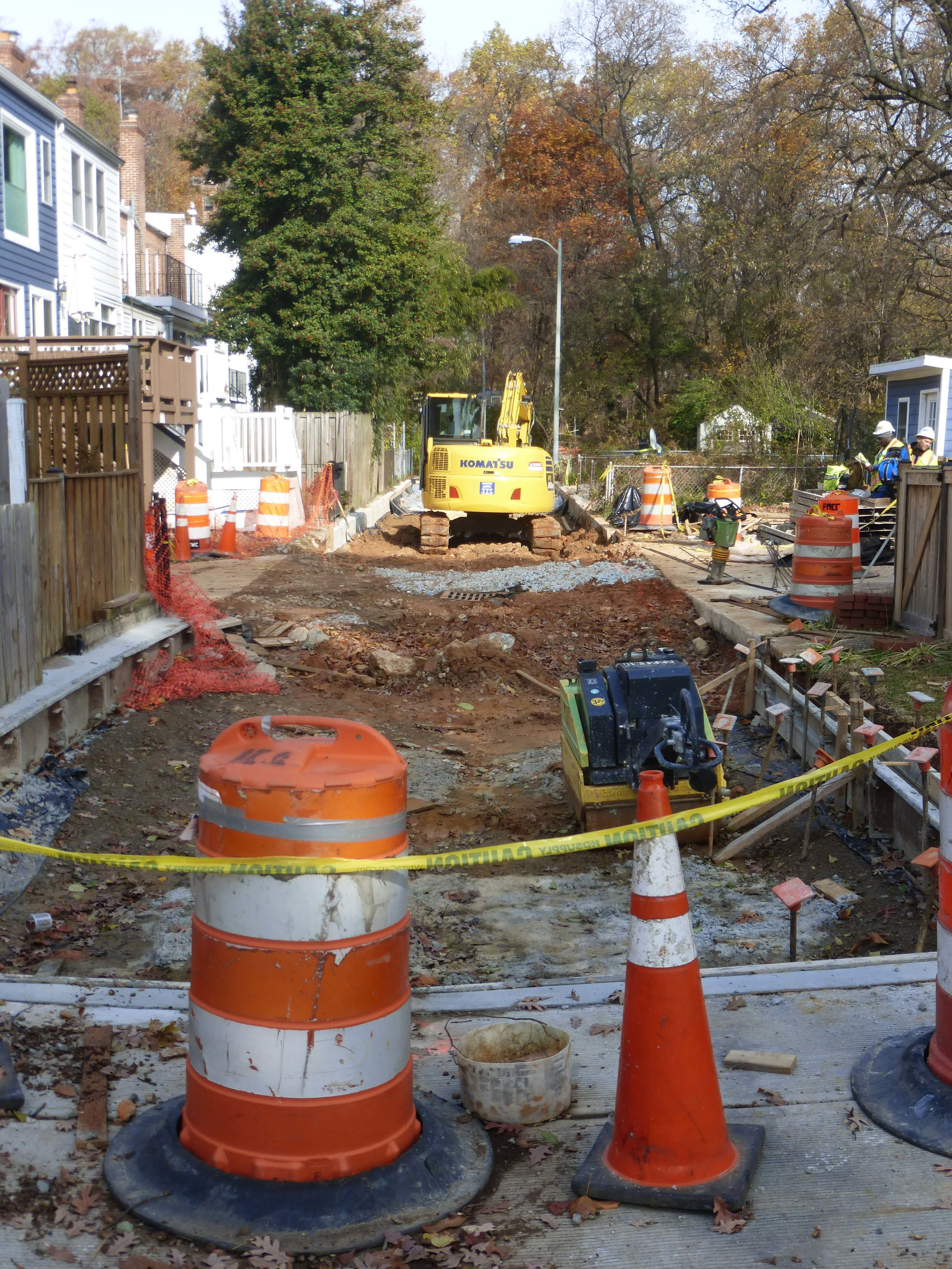 Work began at the end of October 2018 on the first Burleith alley (paralleling 39th Street above T).