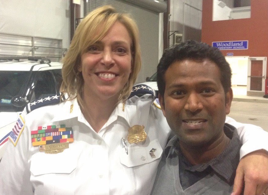 D.C. Police Chief Cathy L. Lanier and Kishan Putta in 2015. Photo courtesy Kishan Putta.