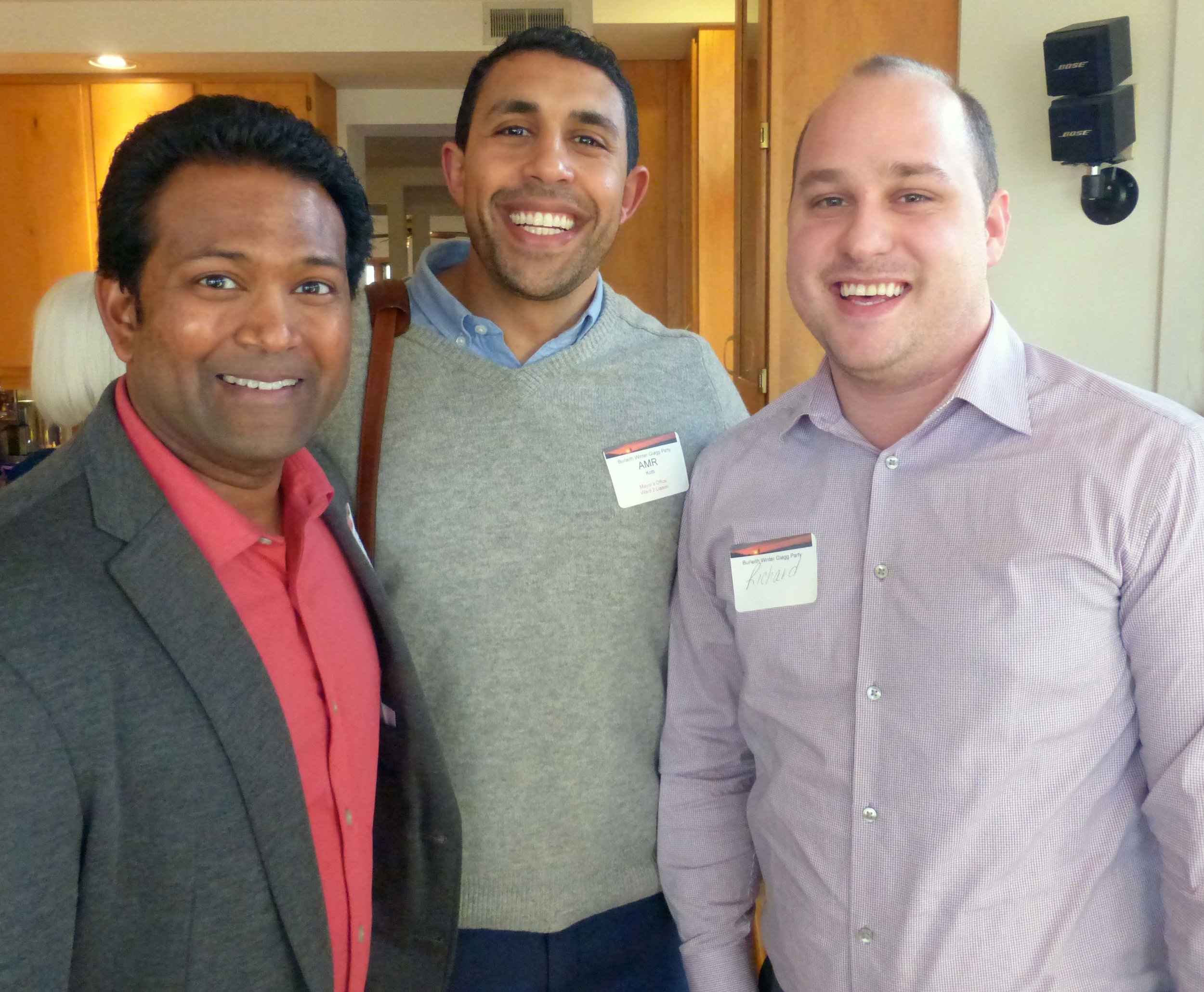 Kishan Putta, Amr Kotb, and Richard Livingstone. Photo by Ann Carper.