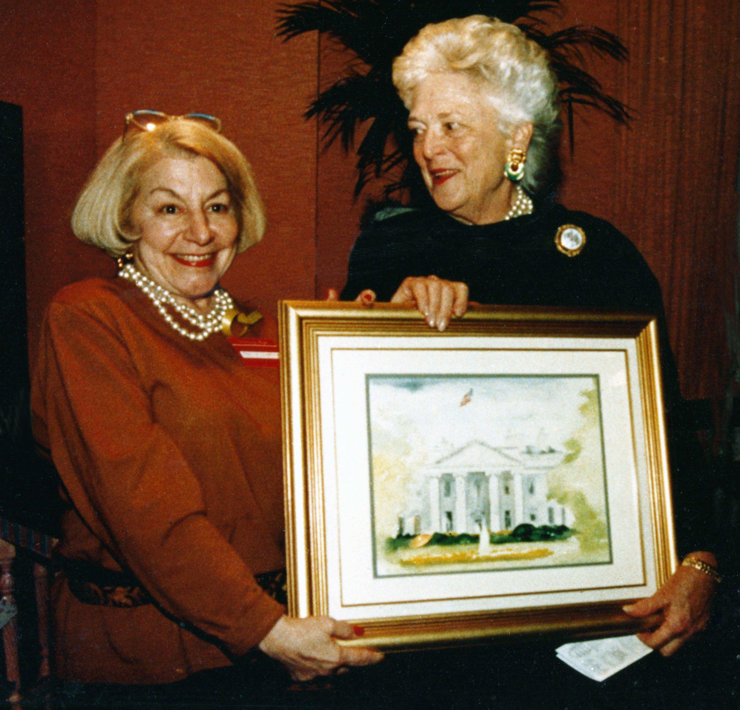 Irene and First Lady Barbara Bush, 1991.
