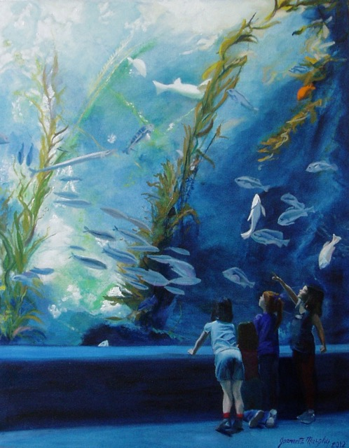 At the Aquarium  by Jeannette Murphy.