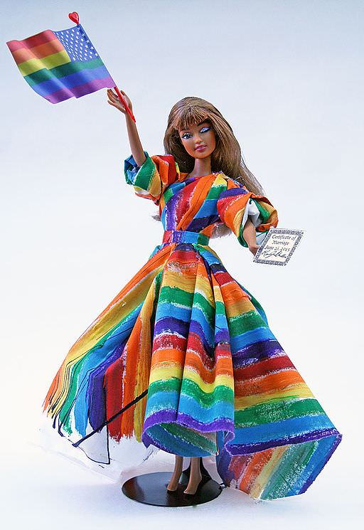 """""""Marriage Equality Barbie"""" by  Ryan Jude Novelline  2015."""