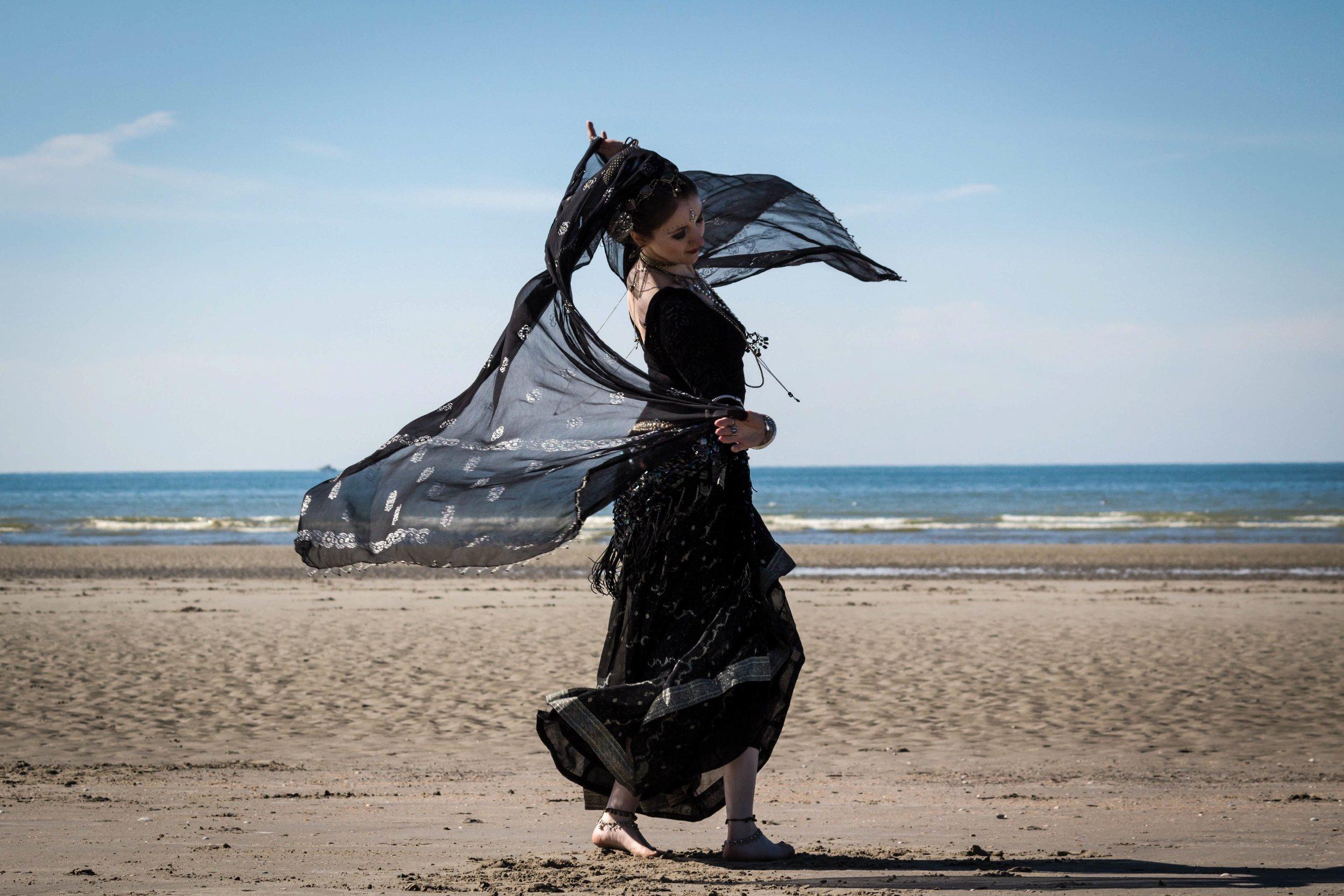 Belly Dancer in Black by  Sébastien .