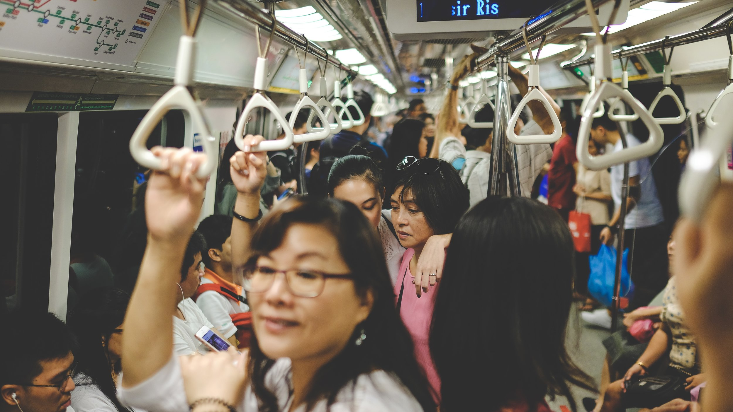 Straphanging city life. Pic by  Chang Hsien
