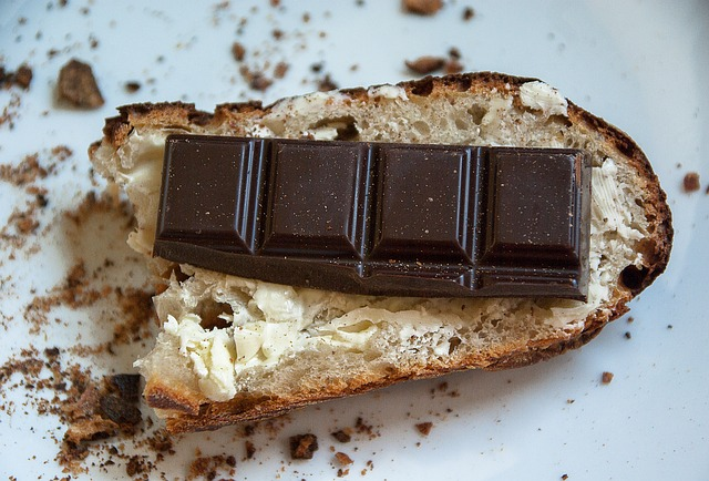 Bread, butter and chocolate. Hospitals can make you feel like eating this for lunch.  Jackmac  pic.