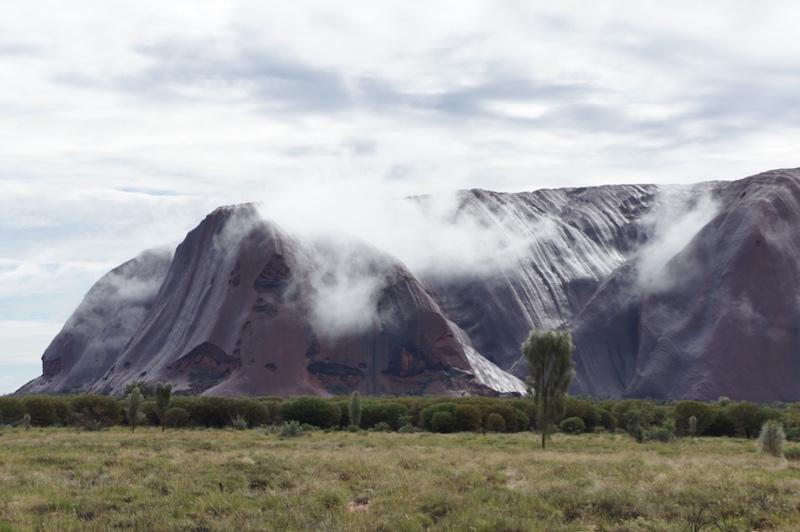 Mist over Uluru. Near the approach to Mutitjulu waterhole. © Janelle Trees 2017
