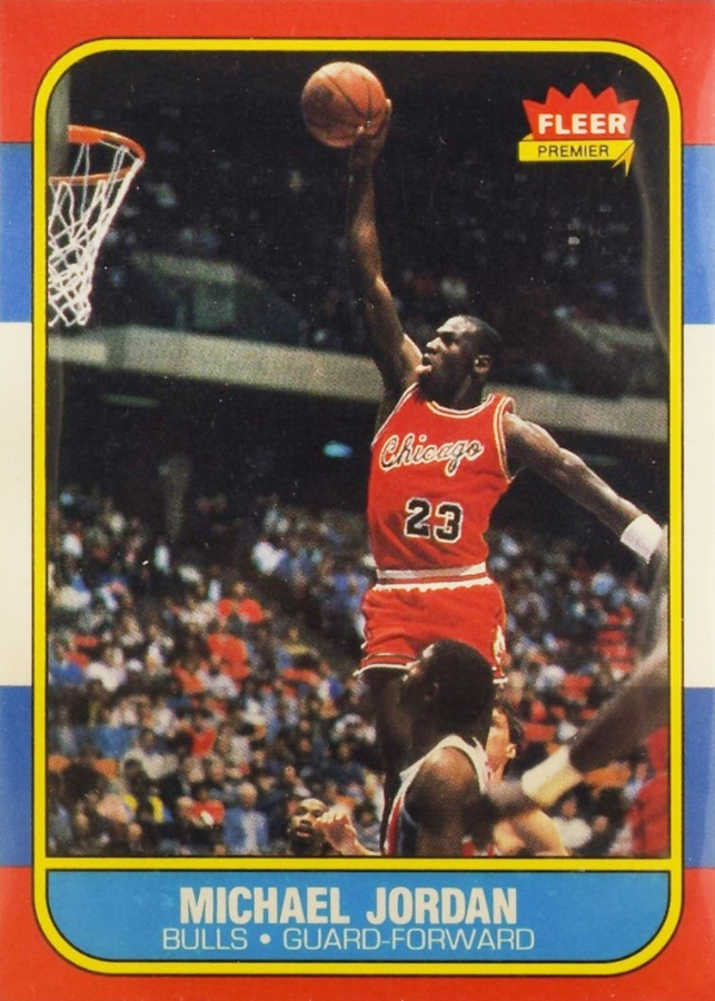 The stuff of a boy's dreams. Classic early 90's basketball card. Pic from ebay.