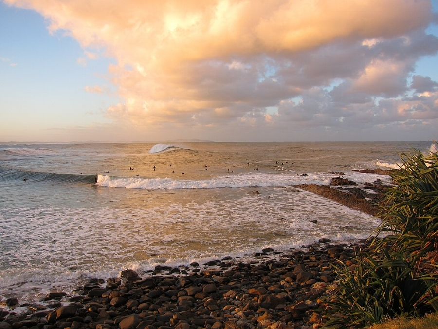 Surfers at Crescent Head. Photo by  Yun Huang Yong .