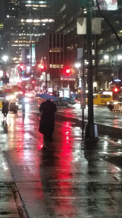 Wet concrete in Manhattan. Photo ©Claudia Jocher 2019.