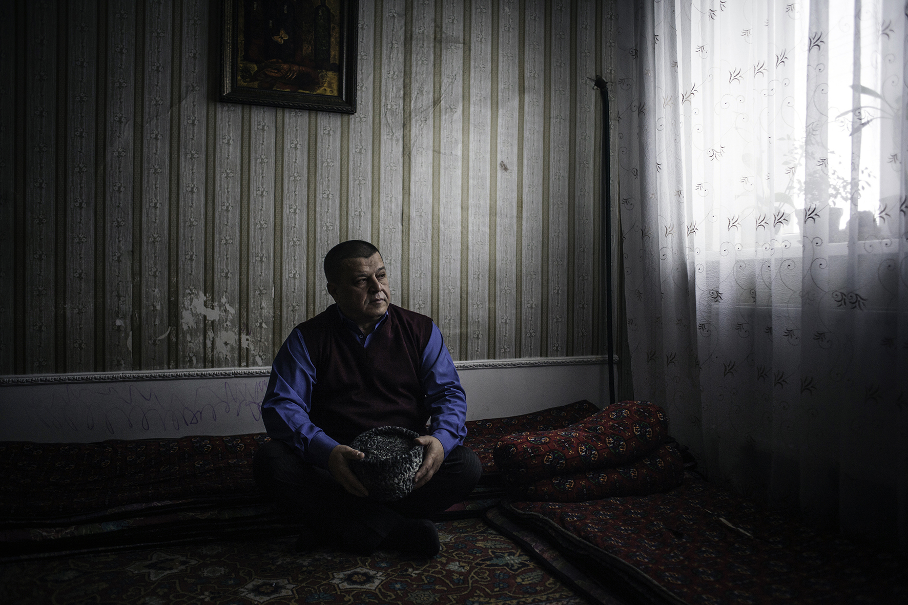 Ali Hamzin. political leader of Crimean Tatar community, Bakhchissaray, Crimea, 2014