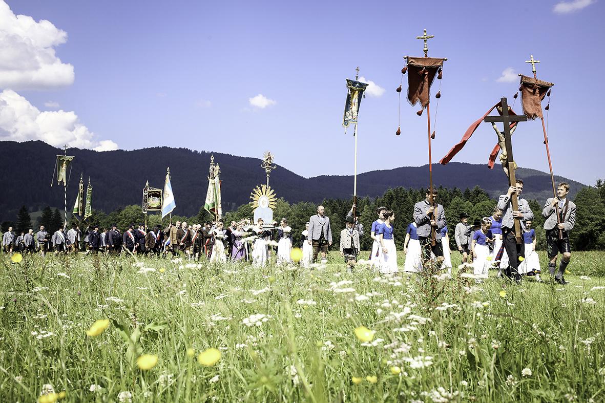 Corpus Christ procession, Fischbachau, 2014