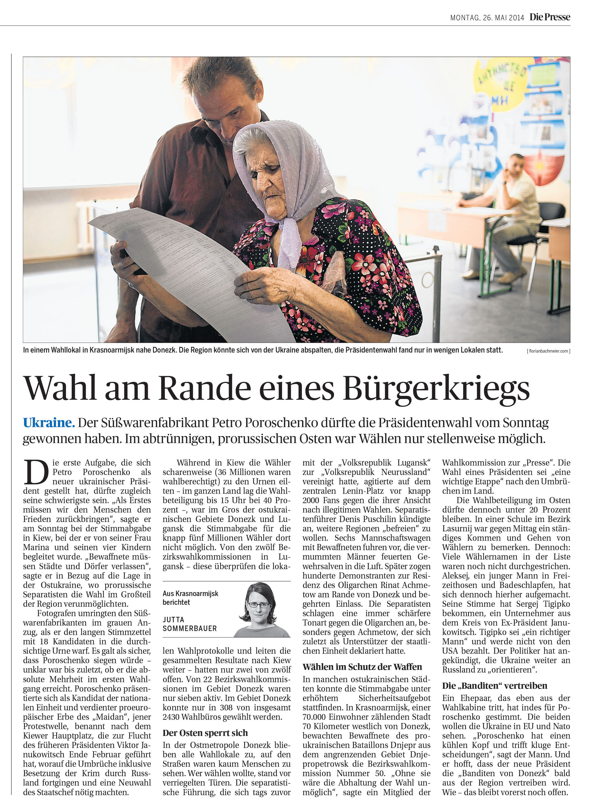 Die Presse, 26. Mai 2014