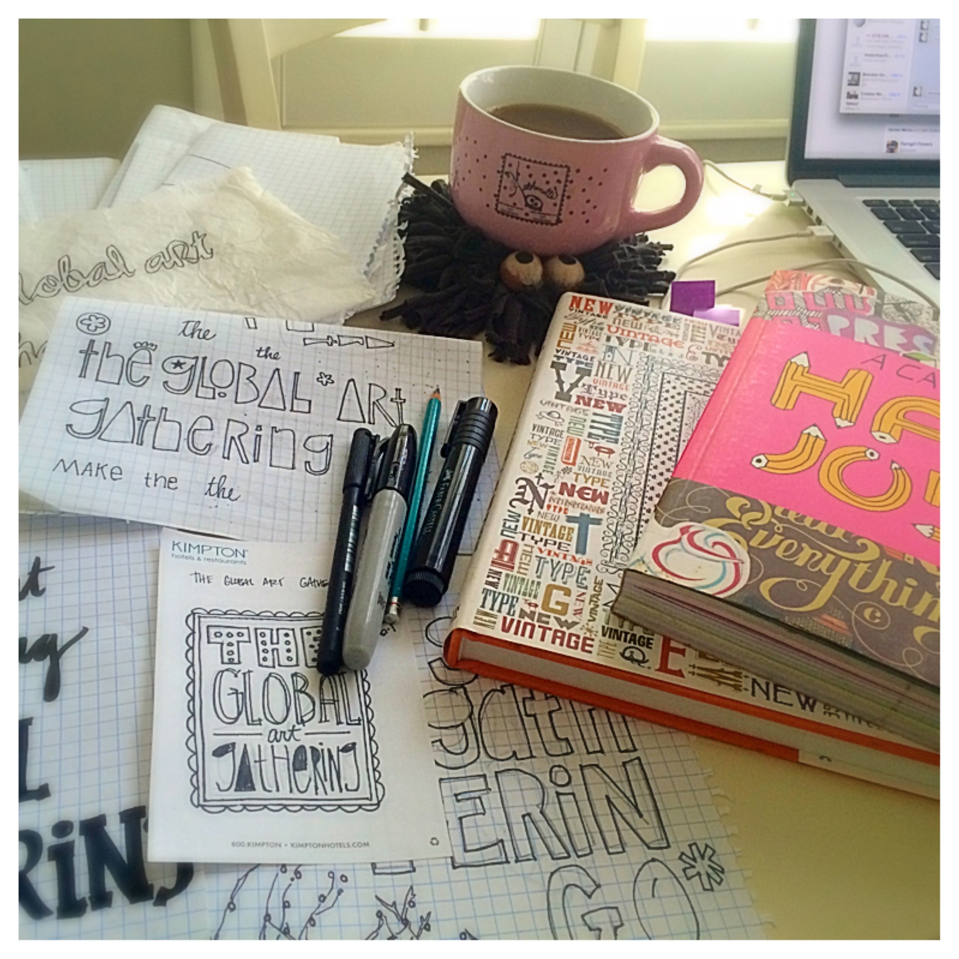 Sketches, books and COFFEE!