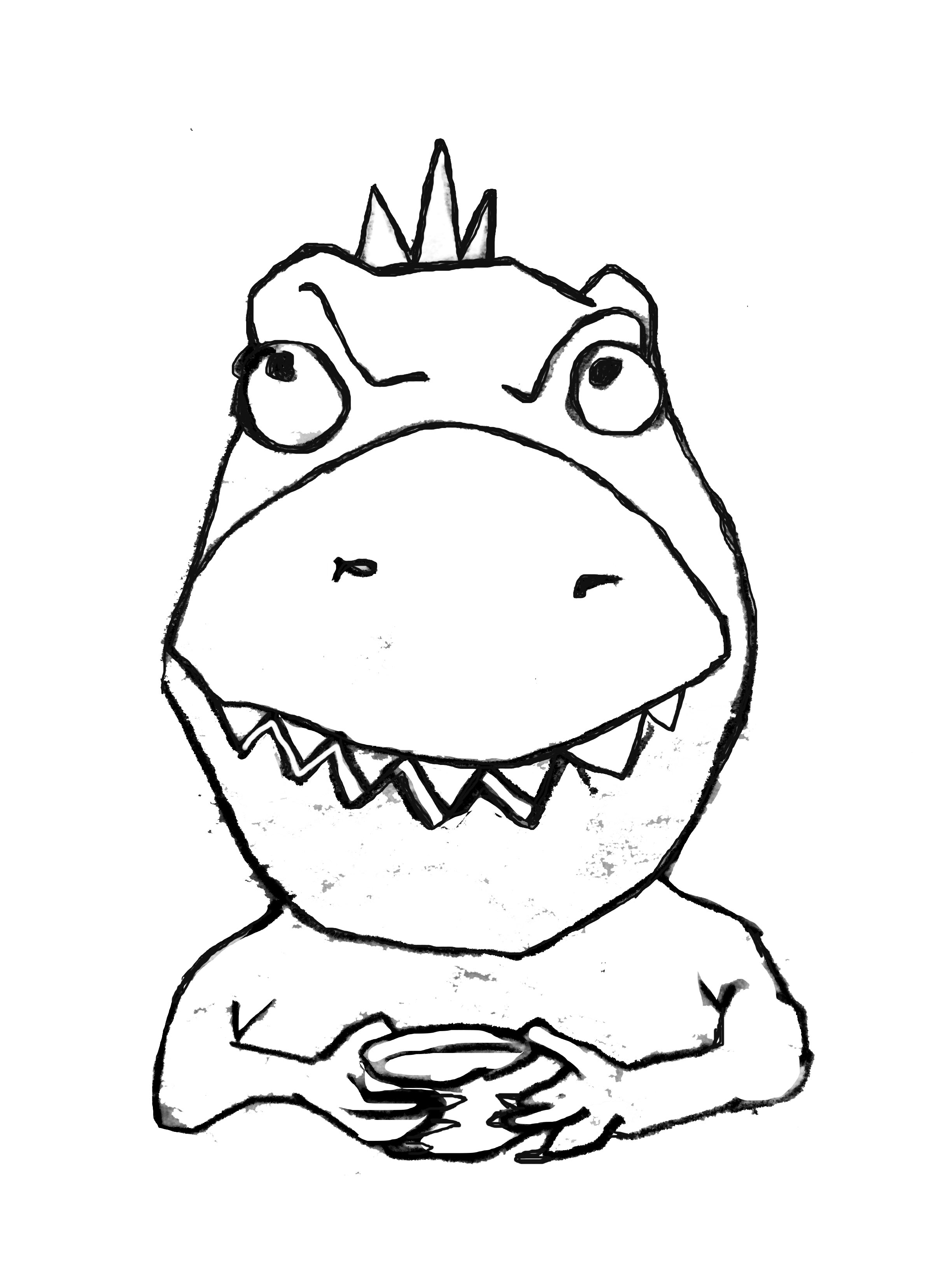 Tea Rex sketch