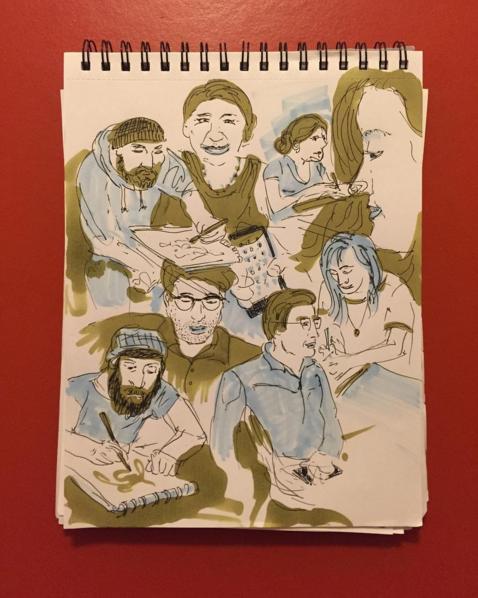 Sketchbook Page, Chris Cerrato