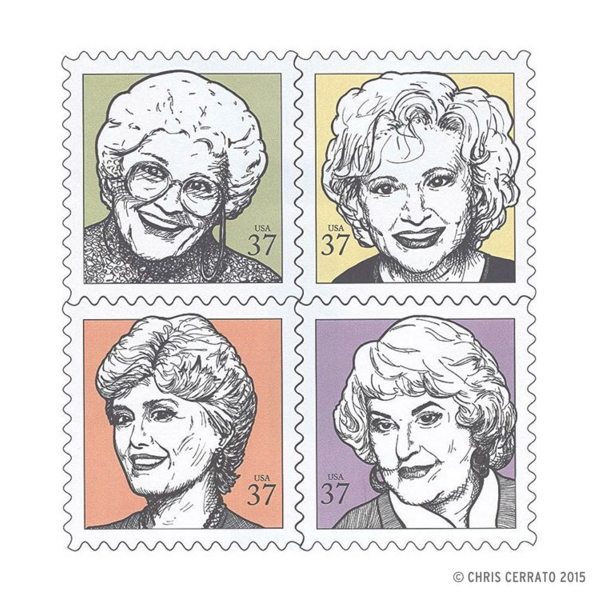 Golden Girls Stamps Chris Cerrato