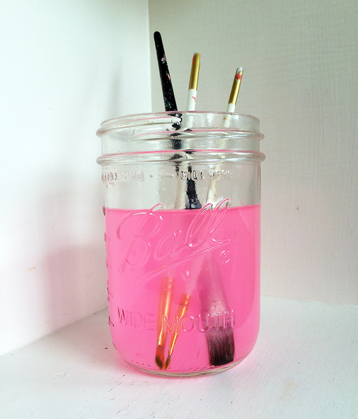 pink paint water
