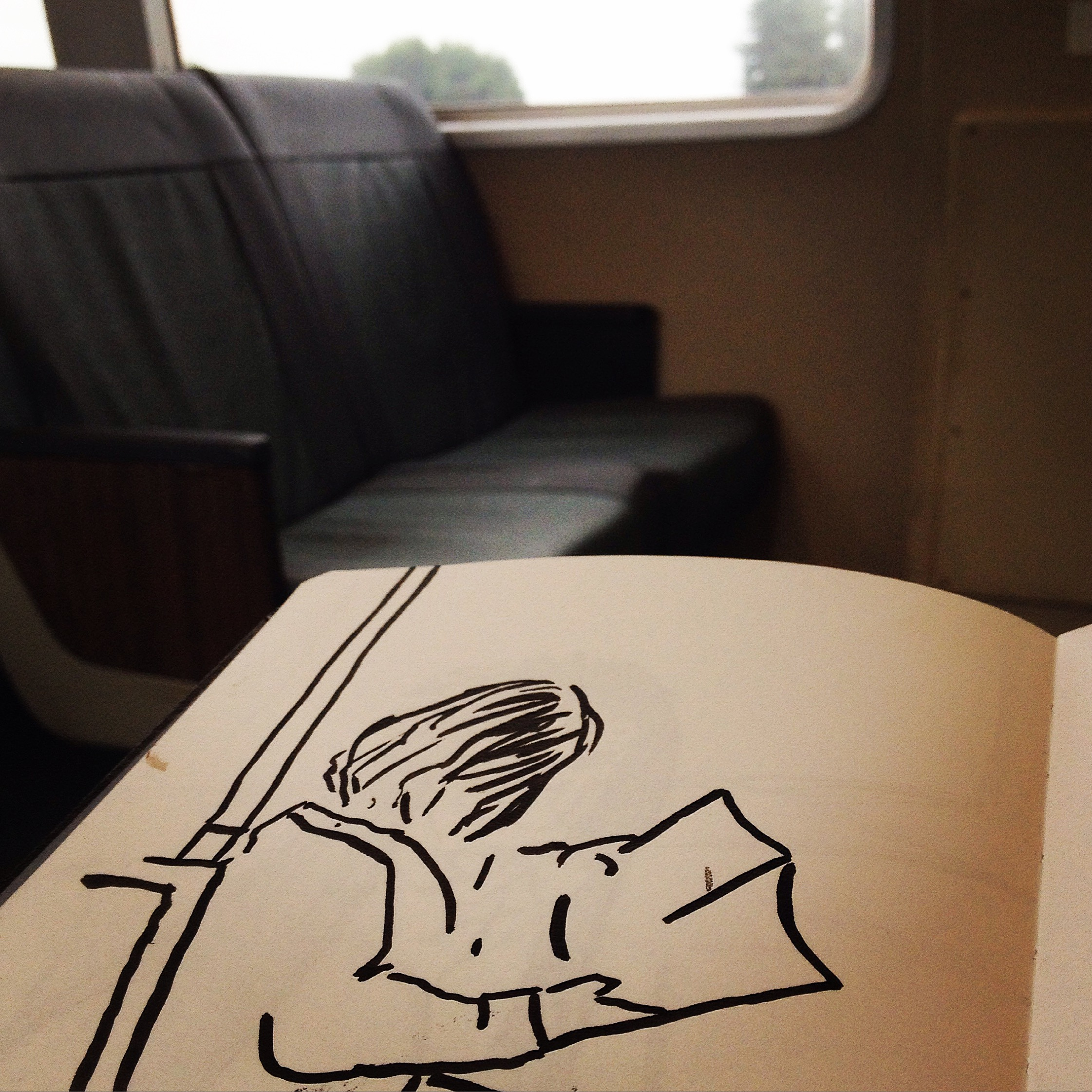 Commuter sketching