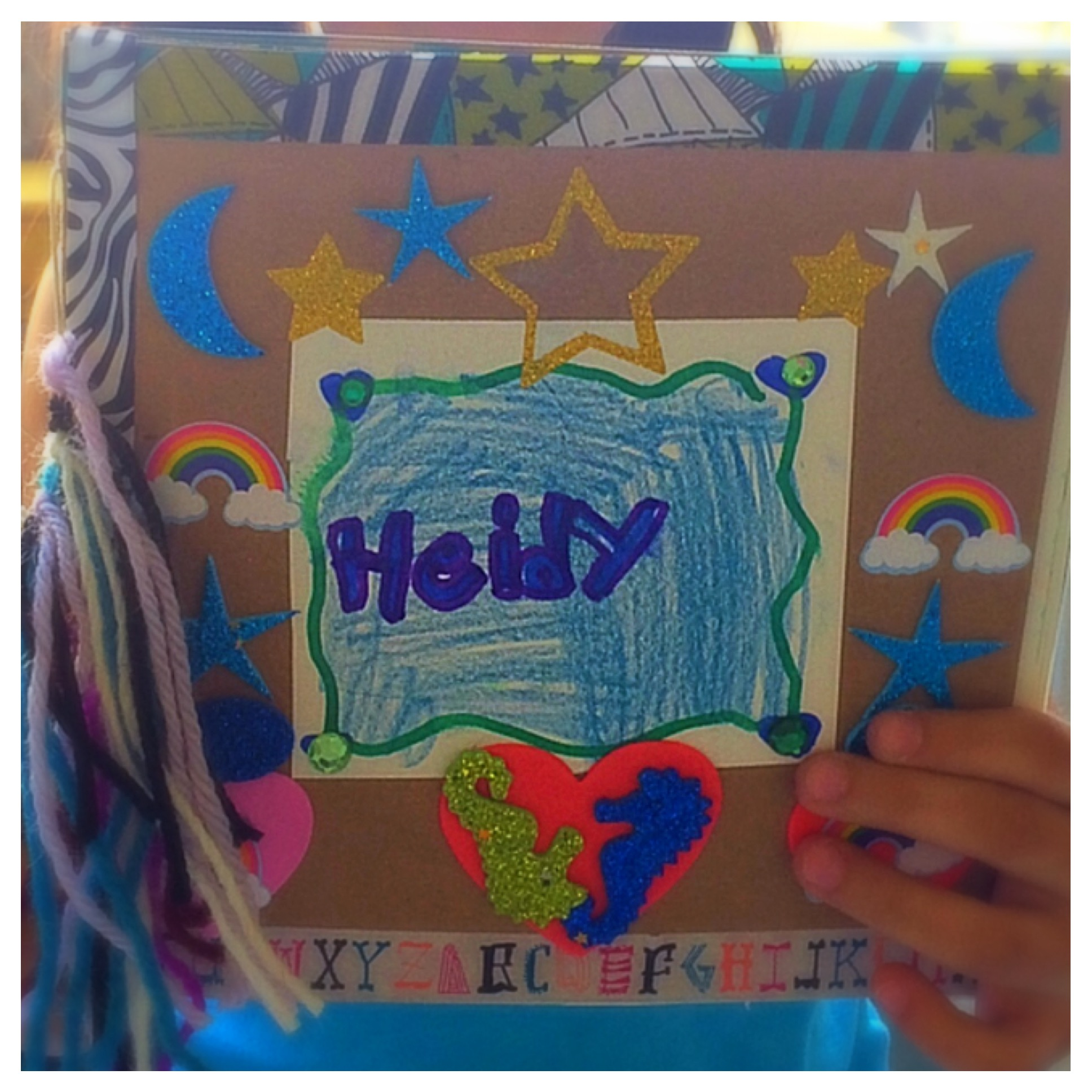 Student Work: Hand Bound Journal with embellishments and fringe