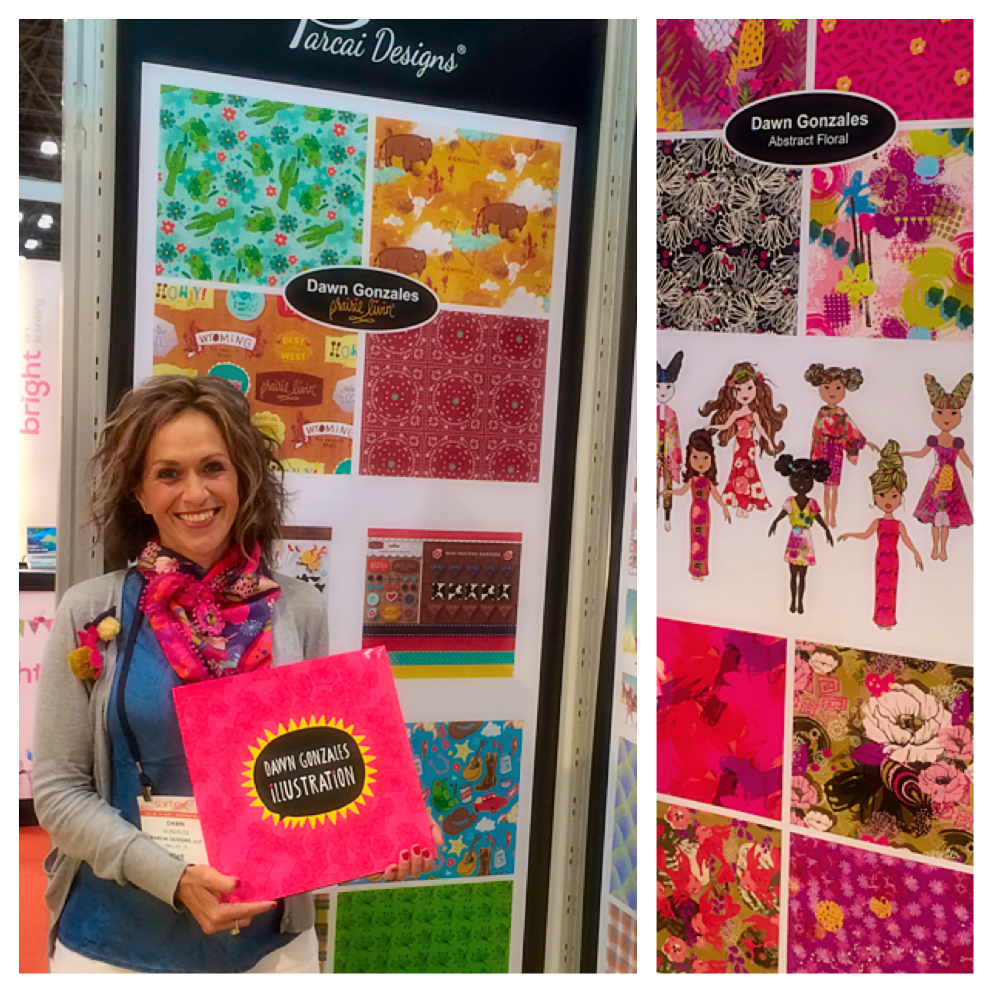 Me at the Parcai Designs Booth Exhibit, Surtex, May 2016