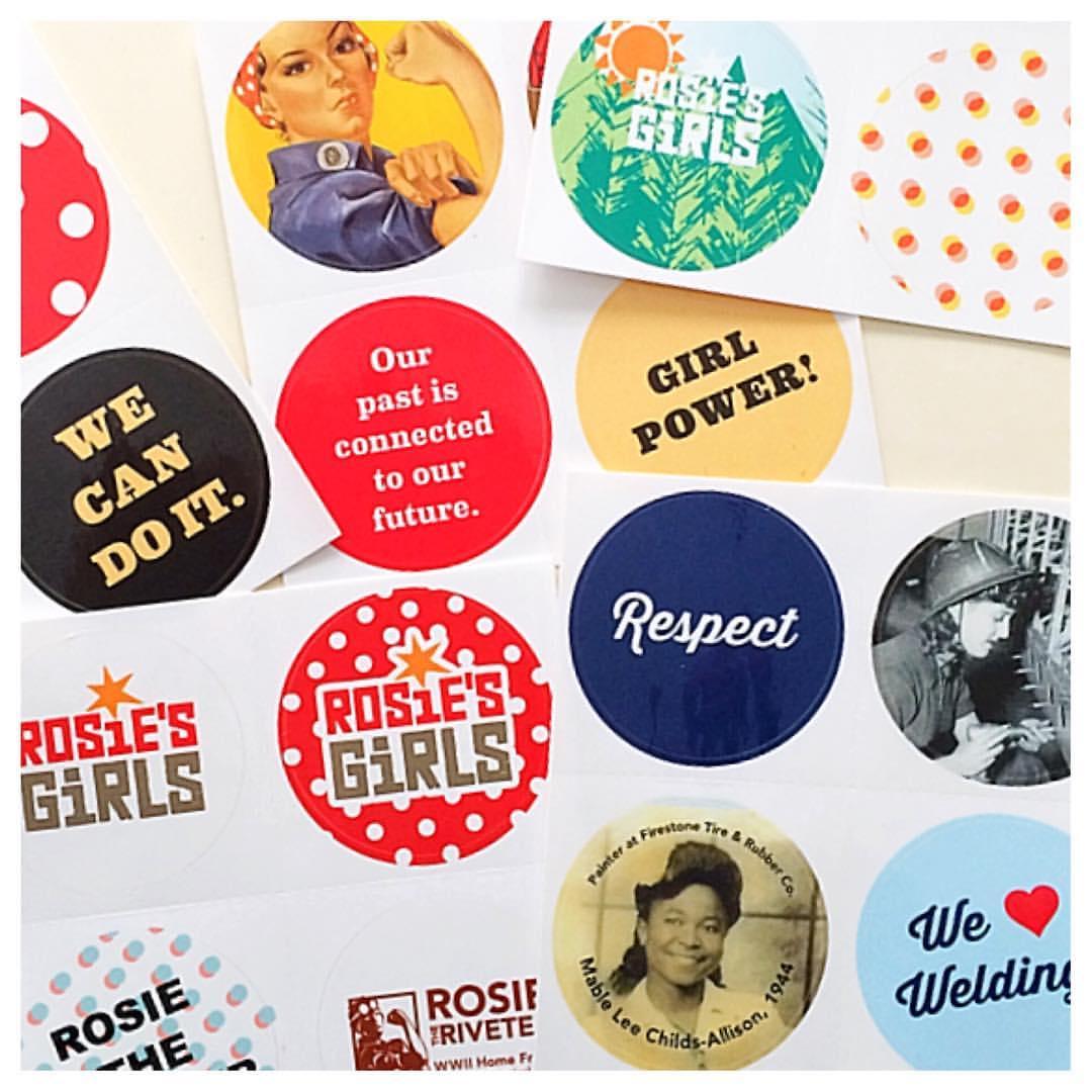 Branded freebie stickers!
