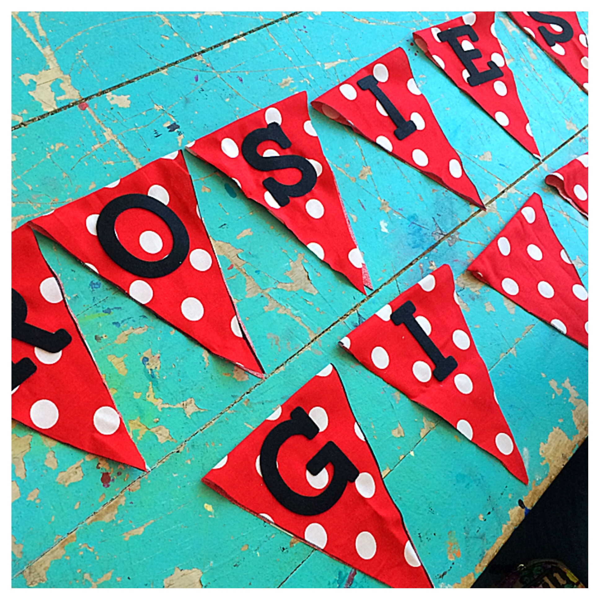 A pretty Polka Dotted Banner