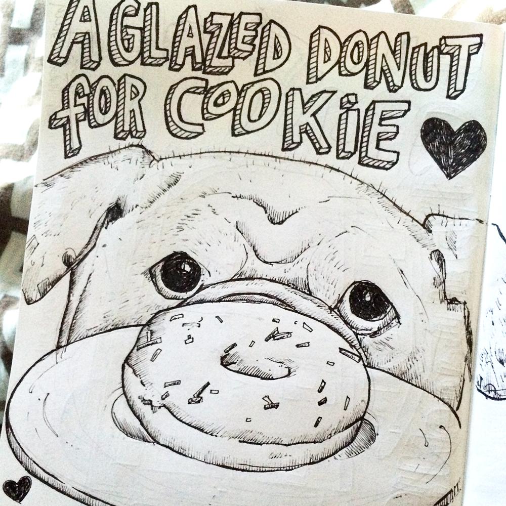 I'll never eat a glazed donut again.