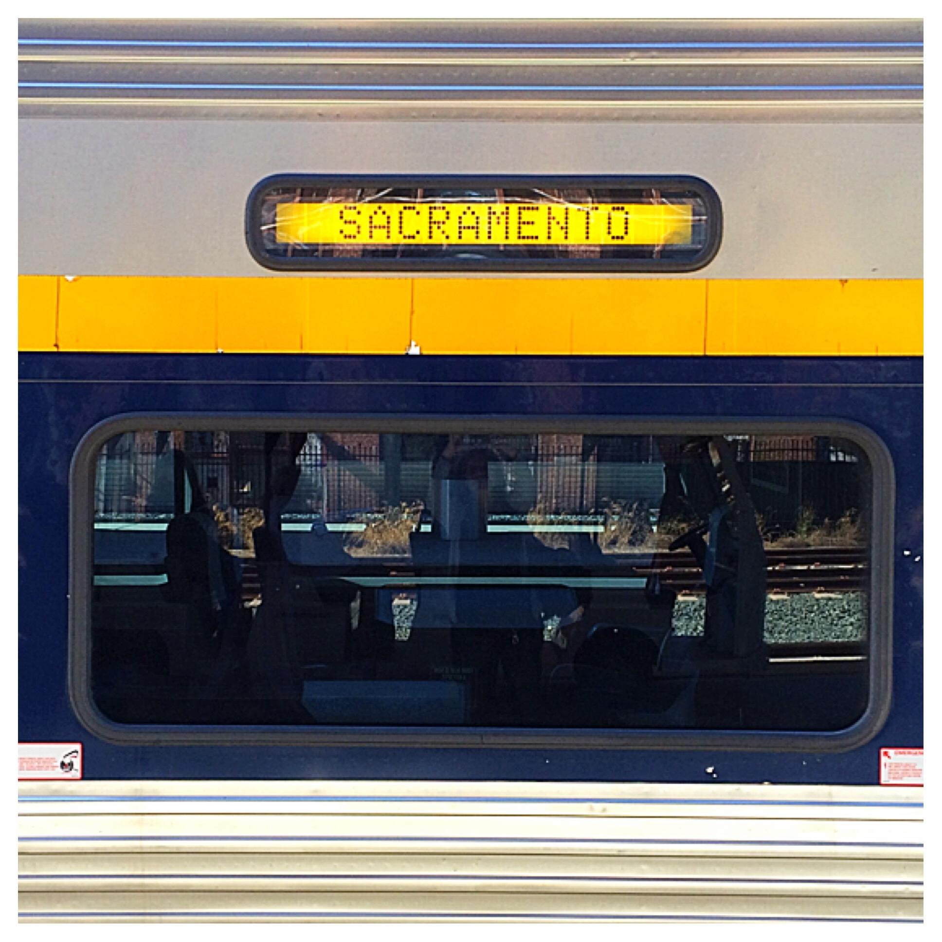 We took the train!