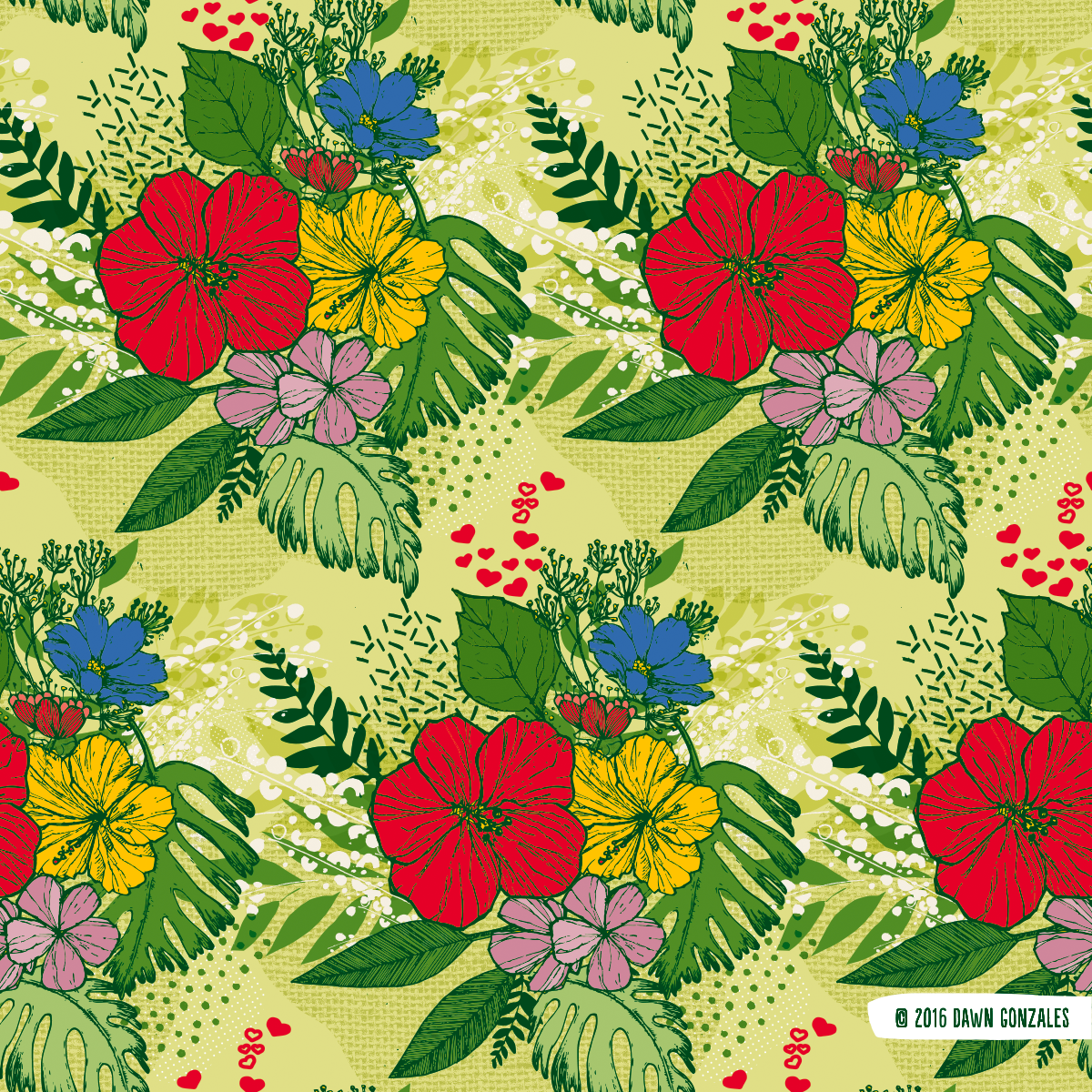 Summer Hibiscus Bouquet