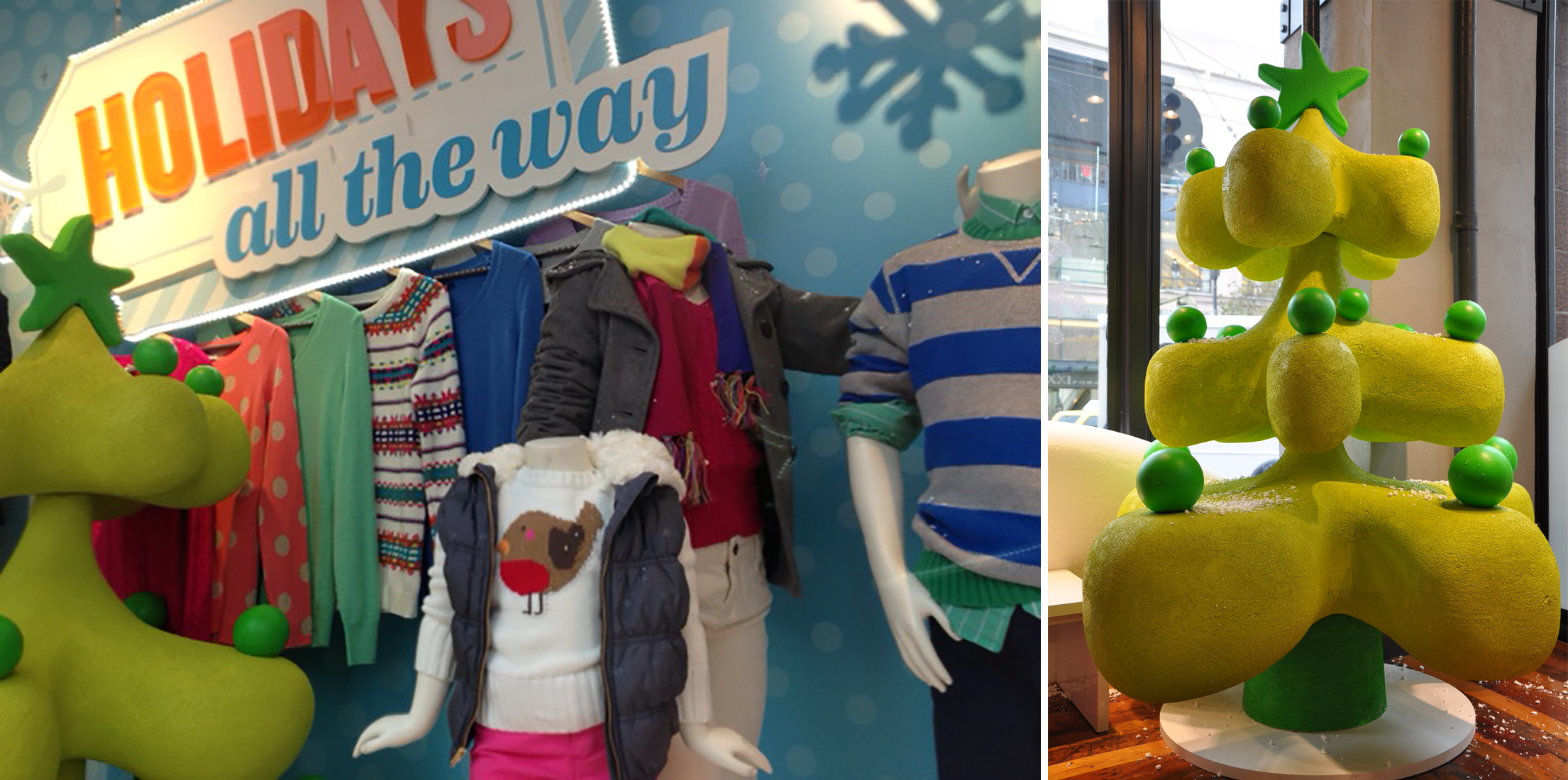 Holiday Window for Old Navy 2013